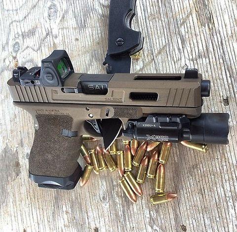 SAI glock, pistol, ammo, bullets, guns, weapons, self defense, protection, 2nd amendment, America, firearms, munitions #guns #weapons