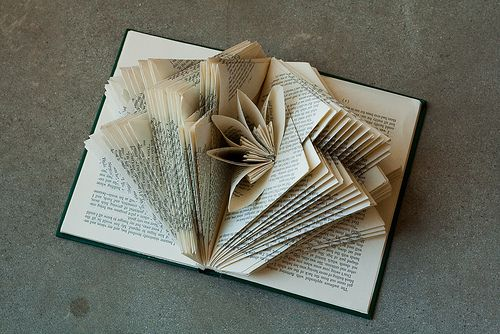 Diy Folded Book art - Tutorial