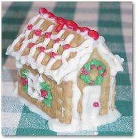 "Easy mini ""gingerbread"" houses"