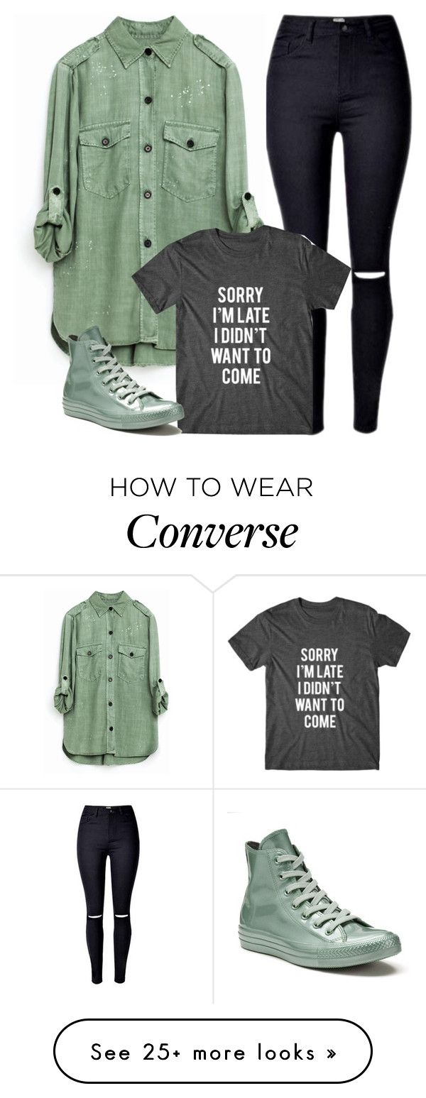 """""""Untitled #3684"""" by fashion-nova on Polyvore featuring Converse"""