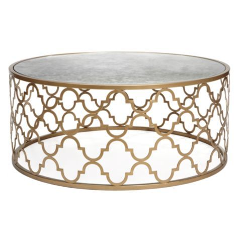 The Meridian Coffee Table from #ZGallerie features a great quatrefoil pattern and offers a vaguely Moroccan flair.