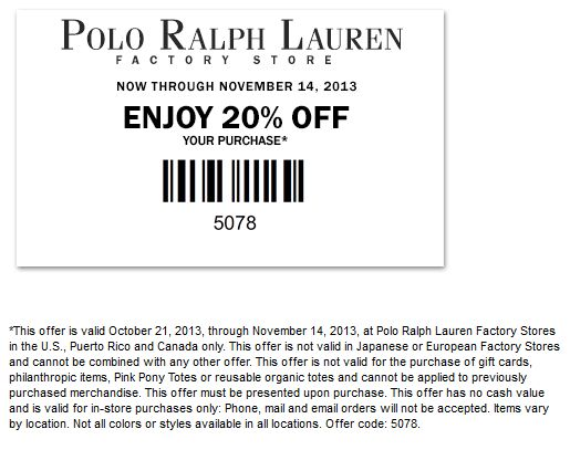 Polo coupon code