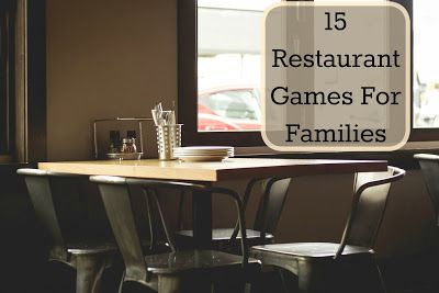Our Unschooling Journey Through Life: 15 Family Restaurant Games