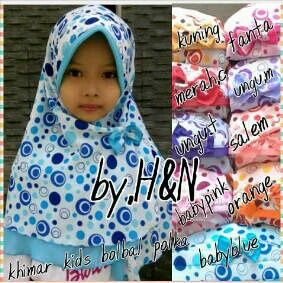 Polka Khimarkids, material chiffon idr. 40 exclude shipping