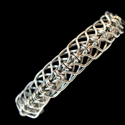 stainless steel bracelet made from 16ga stainless wire