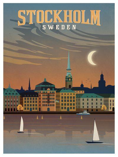 Image of Vintage Stockholm Poster