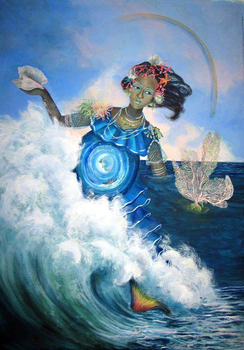 Yemeya | Water and Moon Goddesses in 2019 | Yemaya orisha ...