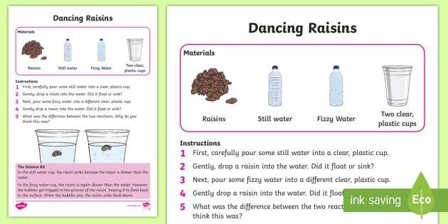 Ks1 Dancing Raisin Science Experiment Dancing Raisins Dancing Raisins Experiment Science Experiments