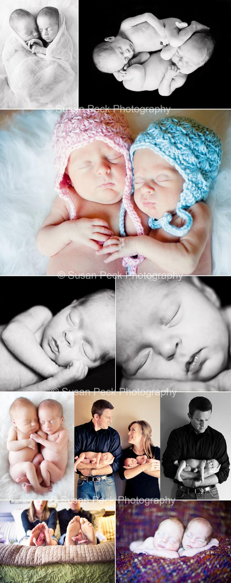 © Susan Peck Photography #newborn #twins #baby