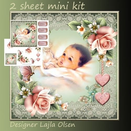 Welcome Girl on Craftsuprint designed by Lajla Olsen - Makes an 8x8 inch…