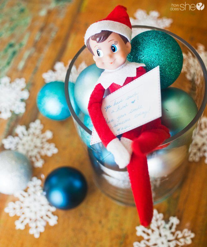 Elf on the Shelf (repurposed) asks the family to do service and kind deeds. LOVE
