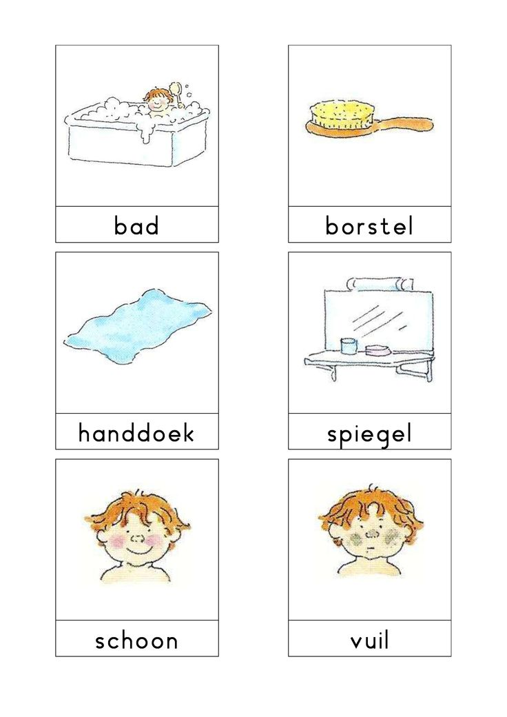 Woordkaarten Bas 'De badkamer' 1