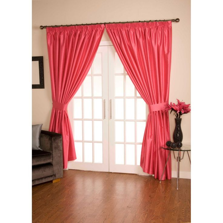 Urban living Como hot pink pencil pleated ready made curtain. Available now at www.emporiumhomeinteriors.co.uk #curtains #homedecor #home