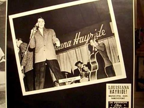 """On this day in 1955 Elvis made his TV debut in Louisiana on a show called """"Louisiana Hayride""""."""