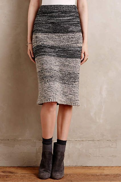 Sweaterknit Pencil Skirt by Maeve- anthropologie.com