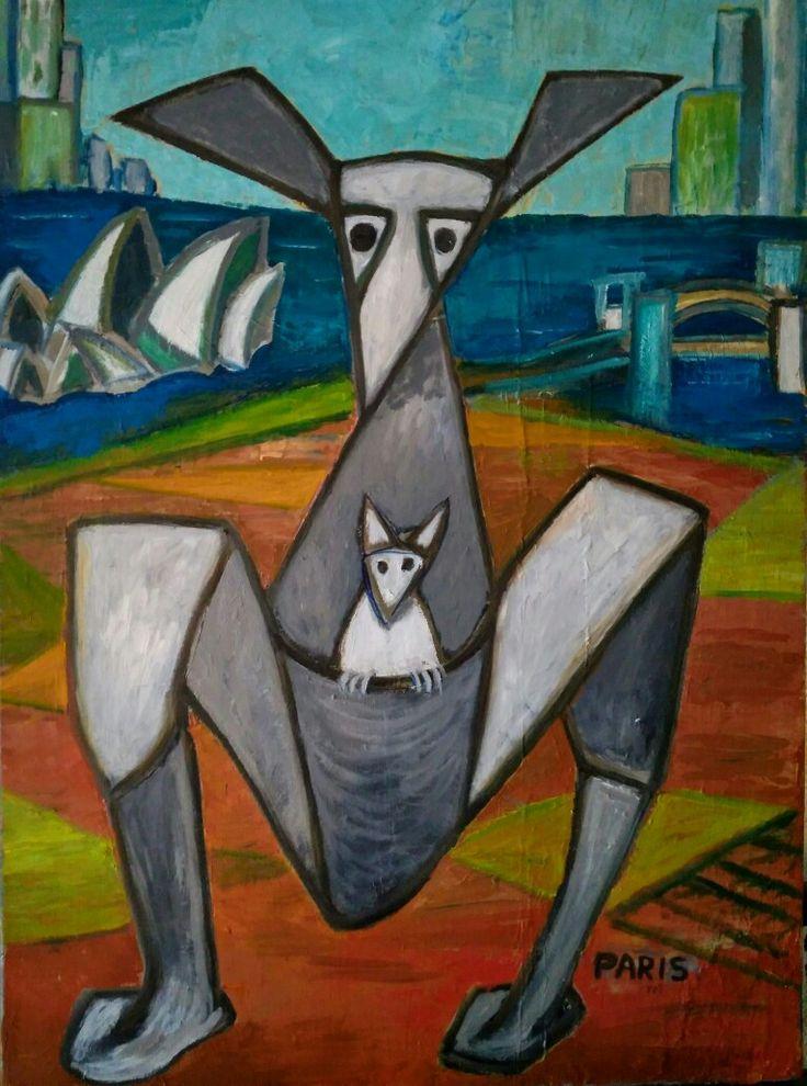 Le kangourou promenade a Sydney