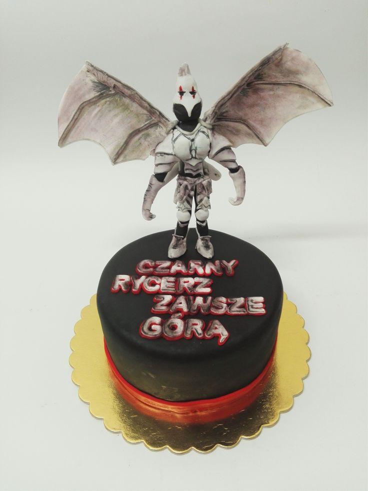 TORT CZARNY RYCERZ, WARHAMMER BLACK KNIGHT CAKE