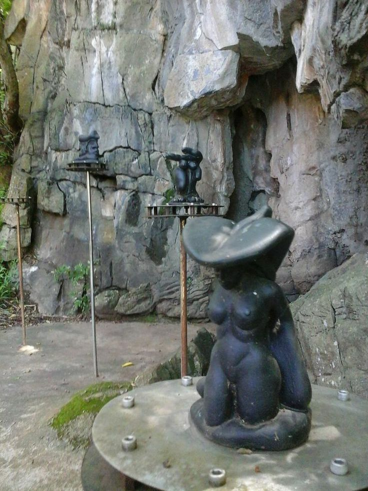 Art in the garden at the Sudwala Caves in Mpumalanga, South Africa.