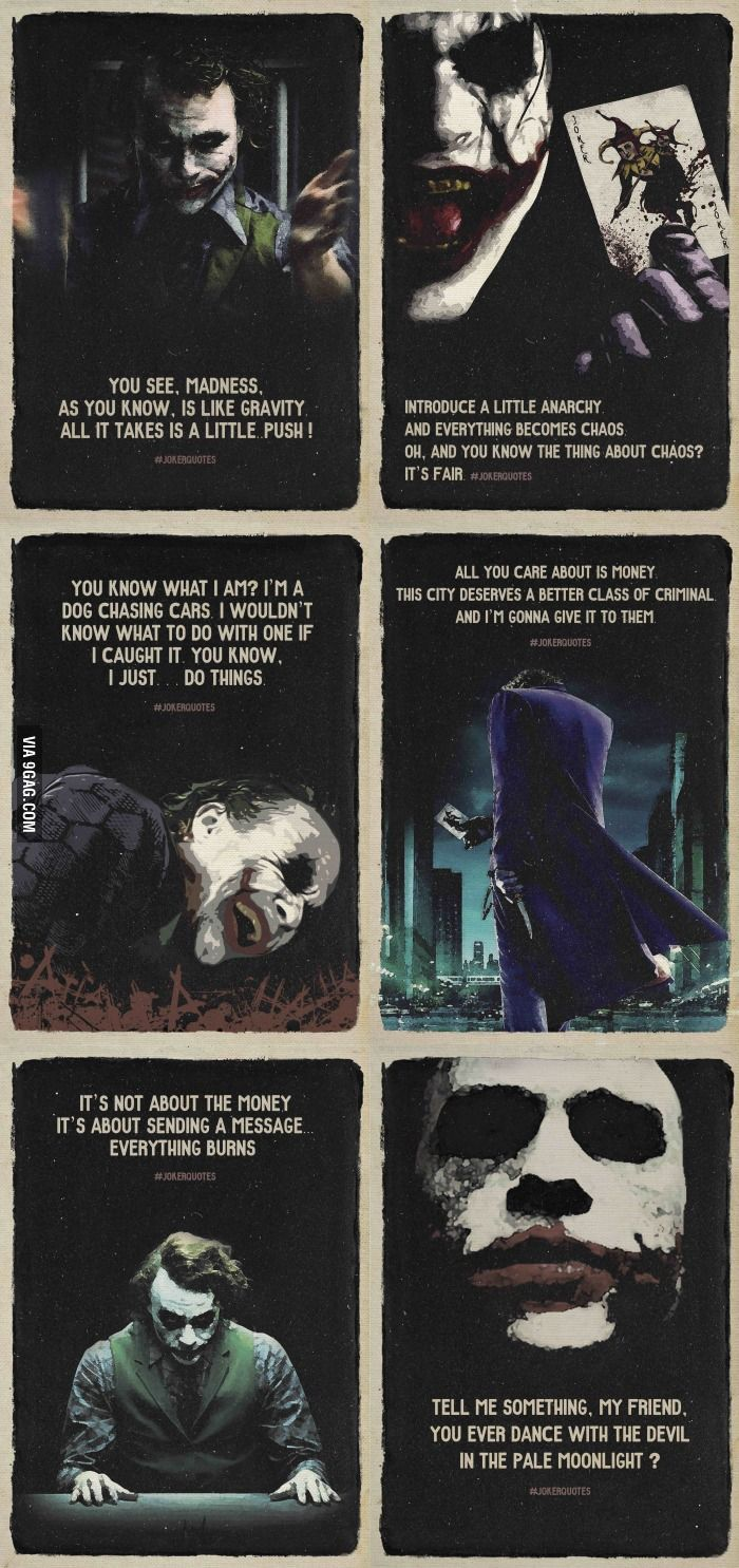 Heath Ledger as The joker is one of the most genius movie characters of all time. He was so amazing.