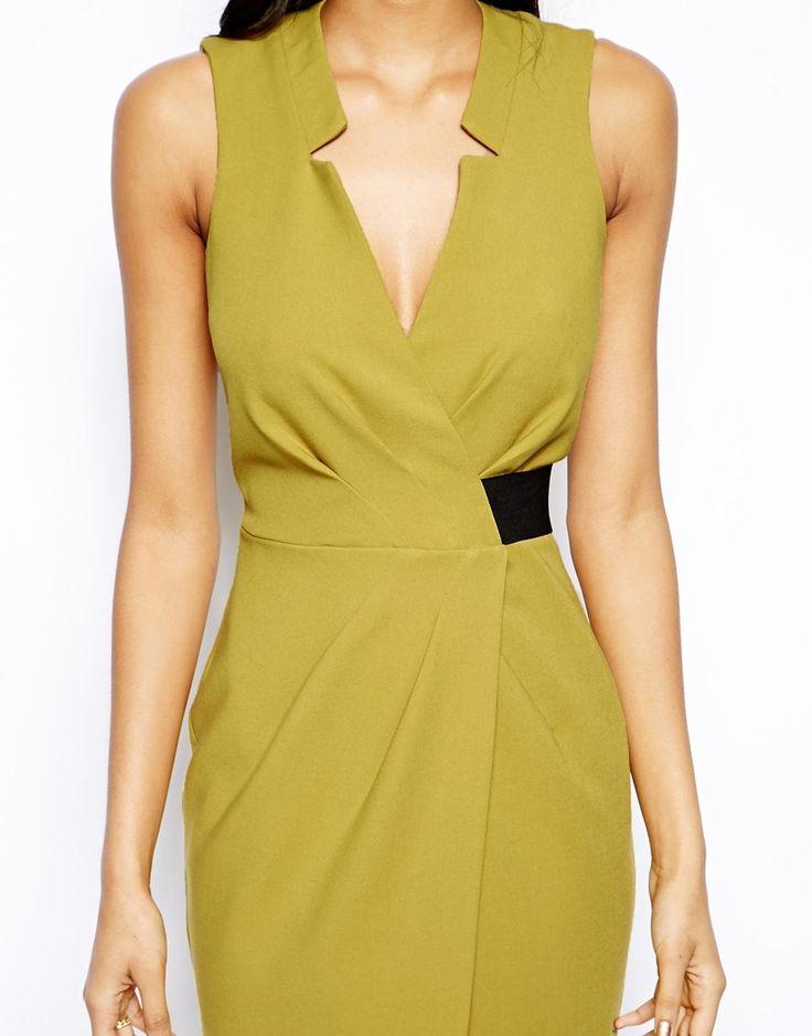 ASOS | Платье-футляр с запахом и эластичной талией ASOS на ASOS