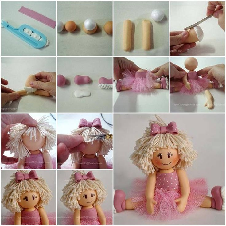 How To Make Polymer Clay Ballerina Biscuit Step By Step