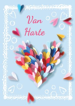 felicitatie verjaardag hart - Verjaardagskaarten - Kaartje2go