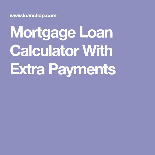 Mortgage Loan Calculator With Extra Payments