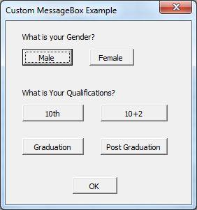 Custom Msgbox in Excel VBA