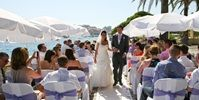 DUBROVNIK - Tania and Lee's gorgeous outdoor wedding ceremony in Croatia was held at the Palm Terrace of the Excelsior hotel, Dubrovnik | Dubrovnik Luxury Weddings