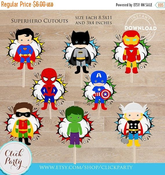 50% OFF SALE Superhero Centerpiece Superhero Table by ClickParty More