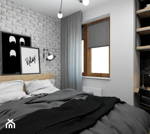 Znalezione Obrazy Dla Zapytania Biała Cegła W Sypialni