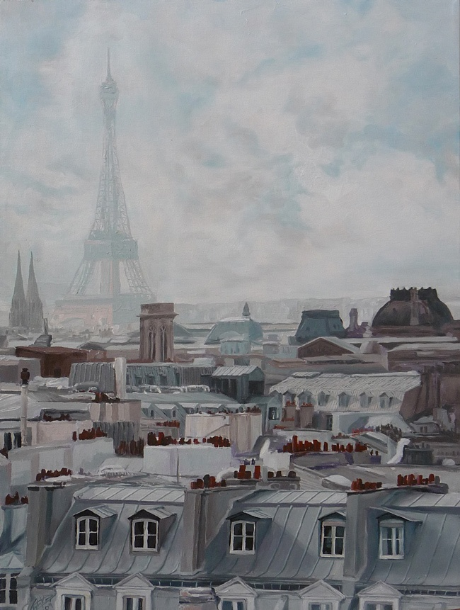 11 best painting inspirations images on pinterest paris rooftops eiffel tower tour and paris. Black Bedroom Furniture Sets. Home Design Ideas