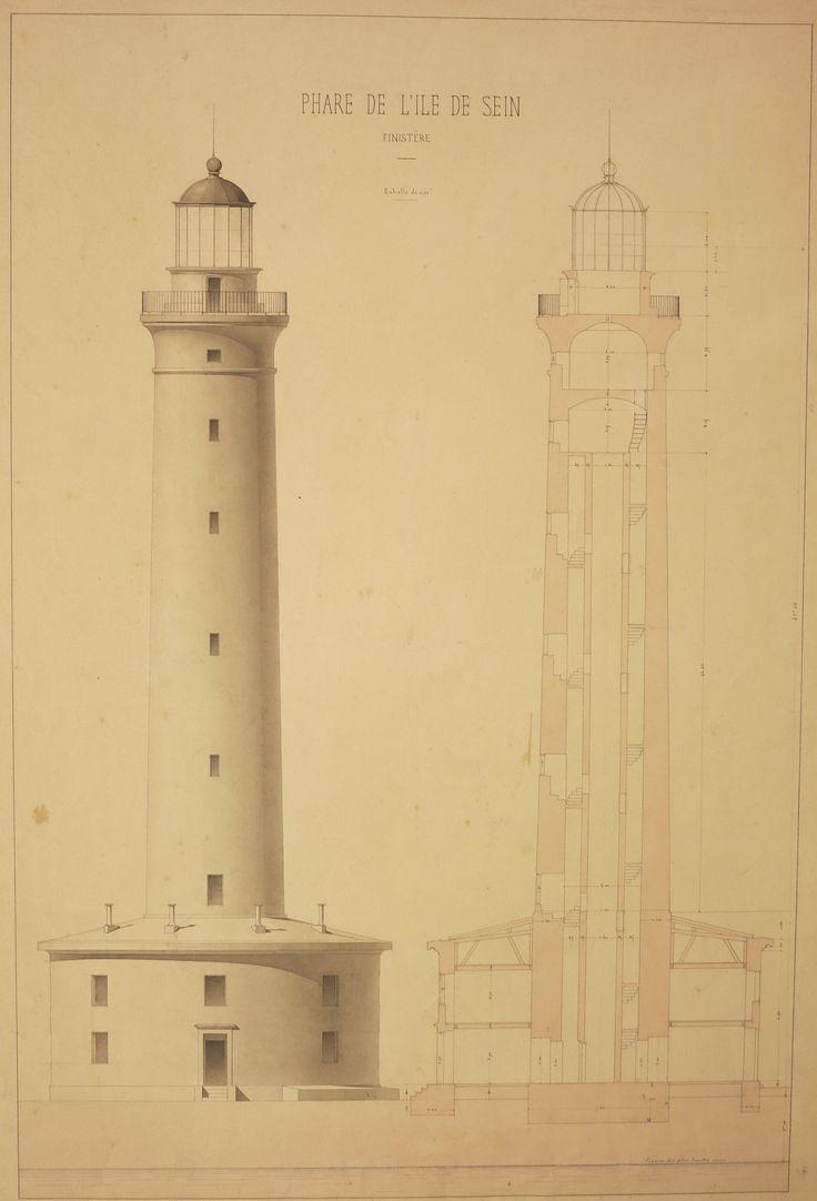 Phare de l'île de Sein. Arch nat CP/F/14/17513/43, pièce 415