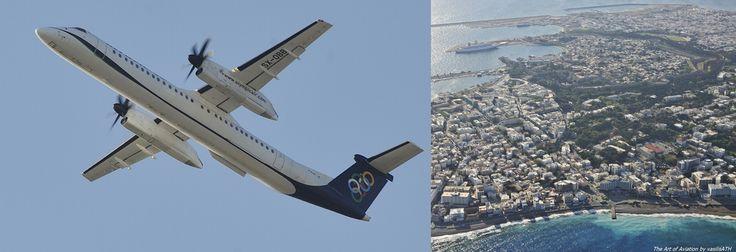 Olympic Air De Havilland Canada DHC-8-400 over Rhodes. ΟΨΕΙΣ - ΜΑΤΙΕΣ Αφιερωμένη σε όλους τους Ροδίτες φίλους μου στην πόλη το νησί και το αεροδρόμιο!