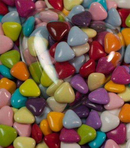 Dragées Petit Coeur - Multicolores