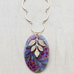 Beijo Brasil Acai with Gold Leaves Necklace
