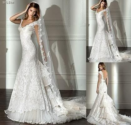 Dresses from China on Ebay...Scary...But great to get ideas of looks!          Lace white/ivory wedding Gown dress size 2 4-6-8-10-12-14-16-18-20-22+custom | eBay