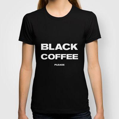 COFFEE T-shirt by Horváth László - $22.00