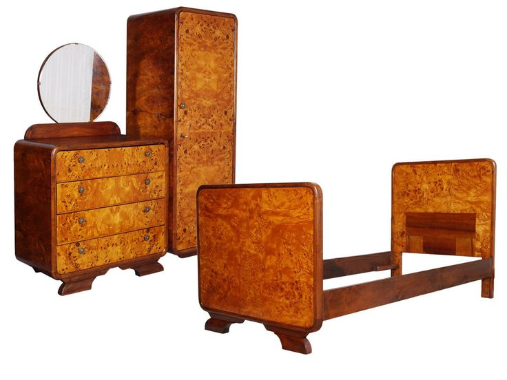 ARCA A. BORSANI ART DECO BEDROOM SET CAMERA LETTO SINGOLA RADICA 1930s - MA R89 | eBay