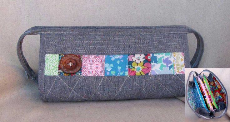 The Sew Together Bag is a handy little bag with three zippered pockets, four open pockets, a pincushion