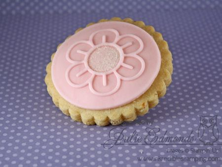 The Meyer Lemon Shortbread cookies I made for Share our Strength Bake Sale using Sweet Pressed Cookies Stamps.