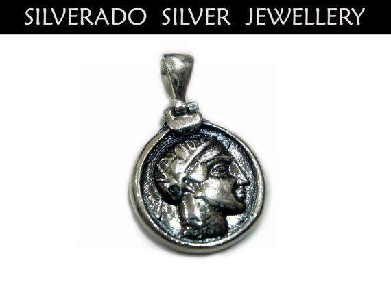 Ancient Greek Tetradrachm Coin Pendant by SilveradoJewellery, €25.00