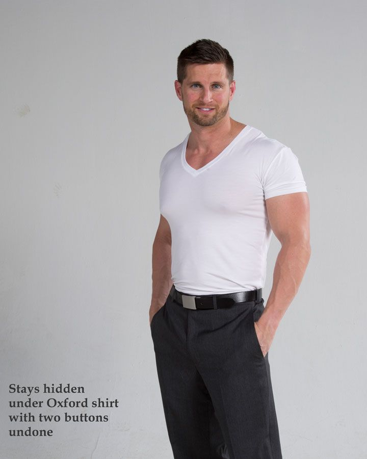 Your dress shirts will have deodorant stains if you do not wear a quality undershirt. These stains are removable using quality washing products. However, you can avoid them in the first place by wearing a quality undershirt. A good undershirt will provide more convenience in regards to ensuring that your dress shirts remain clean longer. Men who wear quality undershirts have their dress shirts looking new for a long time.
