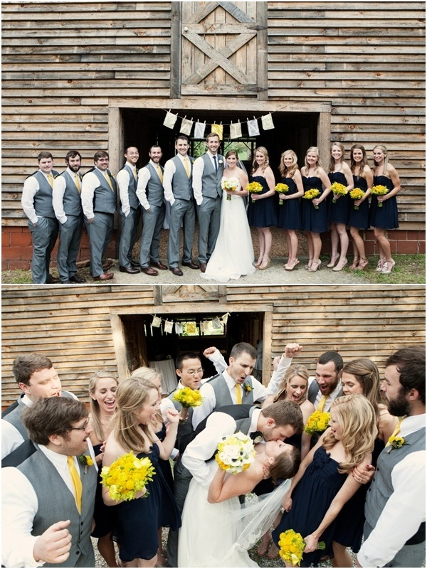 i love gray with yellow and the vests for the groomsmen