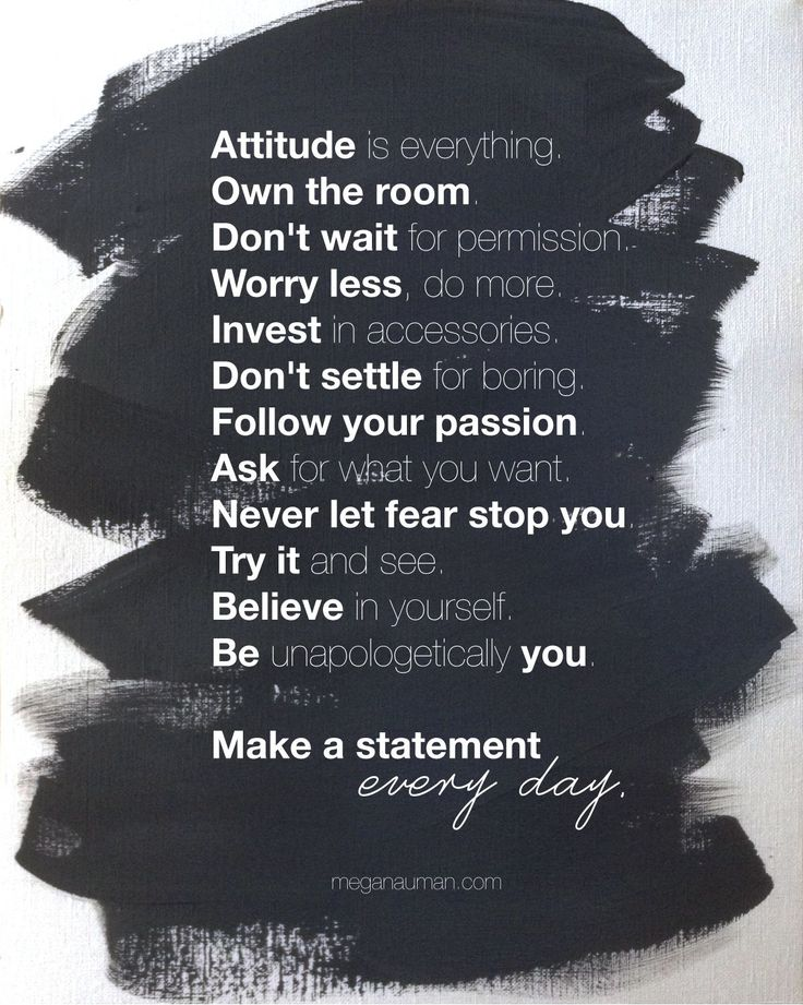 Make a Statement Every Day! - click through to get a free, printable version of the manifesto - http://www.meganauman.com/manifesto/