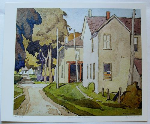 $29.99   Group OF Seven ART Print John Connor'S House BY A J Casson | eBay