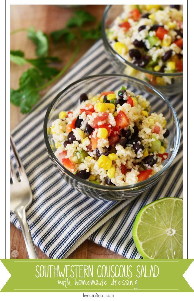 prep the ingredients yourself and then have your kids make the rest of this yummy southwestern couscous salad! it's so easy to get them to eat colorful vegetables :)   www.livecrafteat.com