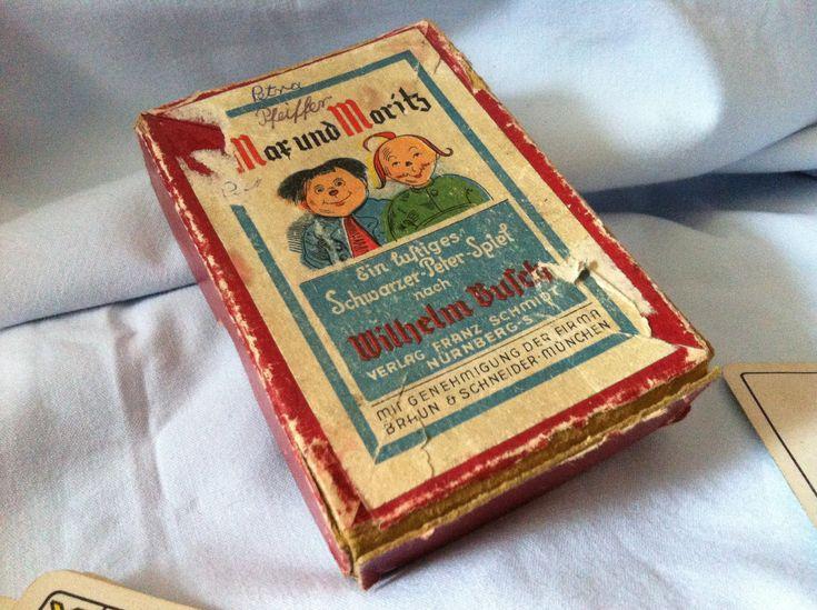 Ich freue mich, den jüngsten Neuzugang in meinem #etsy-Shop vorzustellen: Antikes Kartenspiel Spielekarten Max und Moritz Schwarzer Peter http://etsy.me/2FMj4yV #vintage #sammlerstucke #spielzeug #karten #spielekarten #kartenspiel #spiel #antik #max