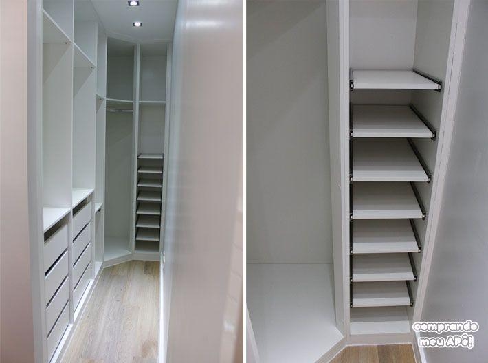 Tour pelo meu Closet planejado   Armário do Escritório e Passa-Pratos www.comprandomeuape.com.br