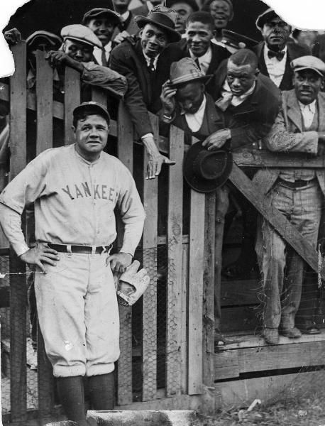 New York Yankees Babe Ruth and fans.  (Sporting News Archives)
